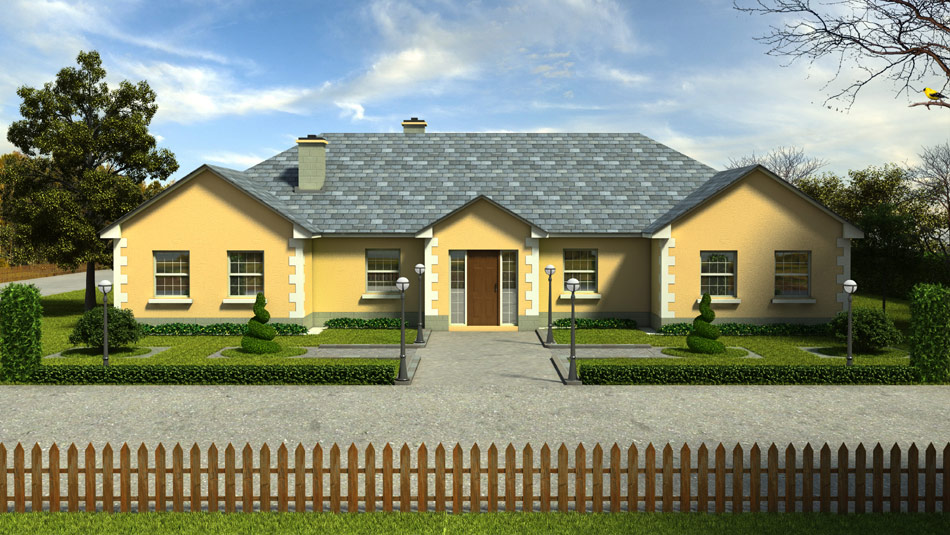 3d house design bungalows services m f kelly for House plans with conservatory
