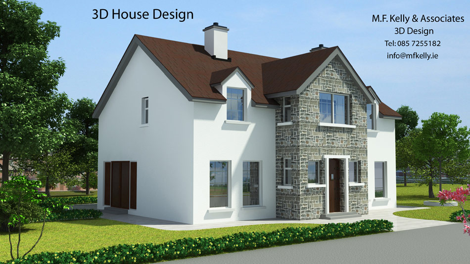 3d house design two storey houses services m f for Cheapest 2 story house to build