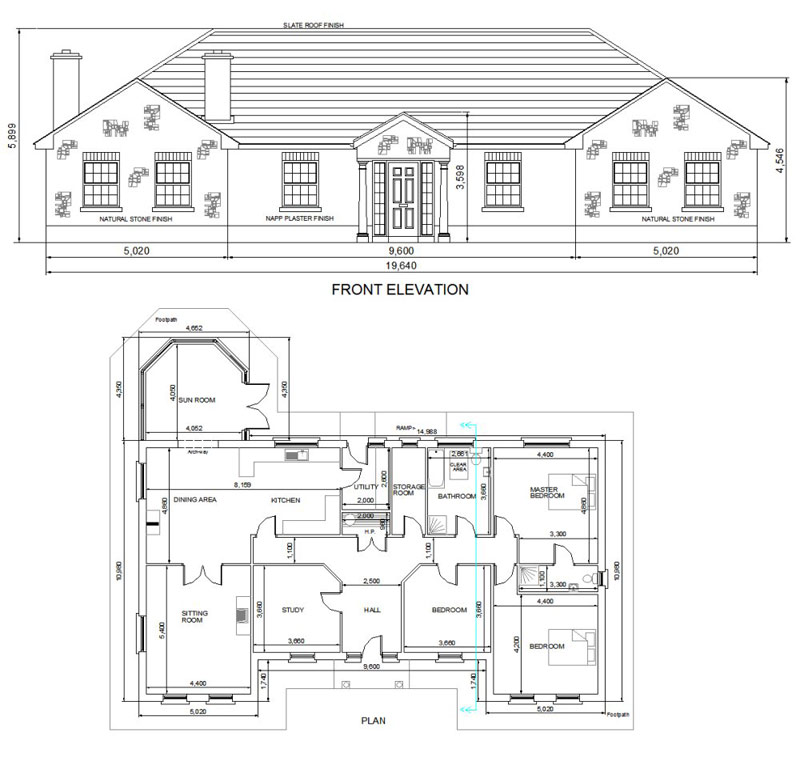 Buy House Plans Bungalows Storey And A Half Two Storey 104a Mullingar Westmeath
