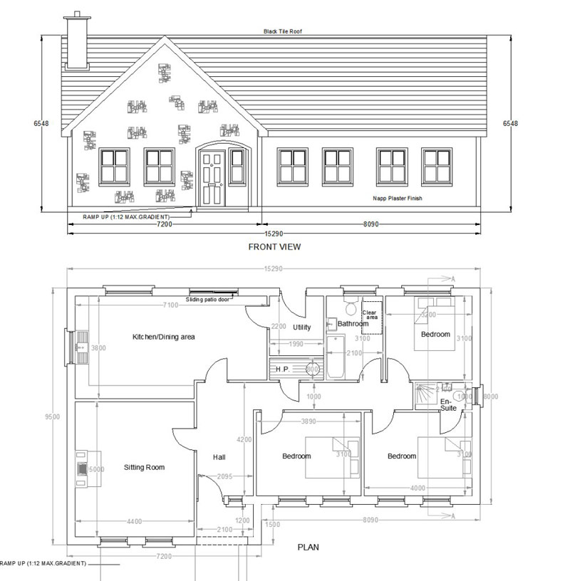 House105Alg buy house plans bungalows storey and a half two storey 105a,Storey And A Half House Plans