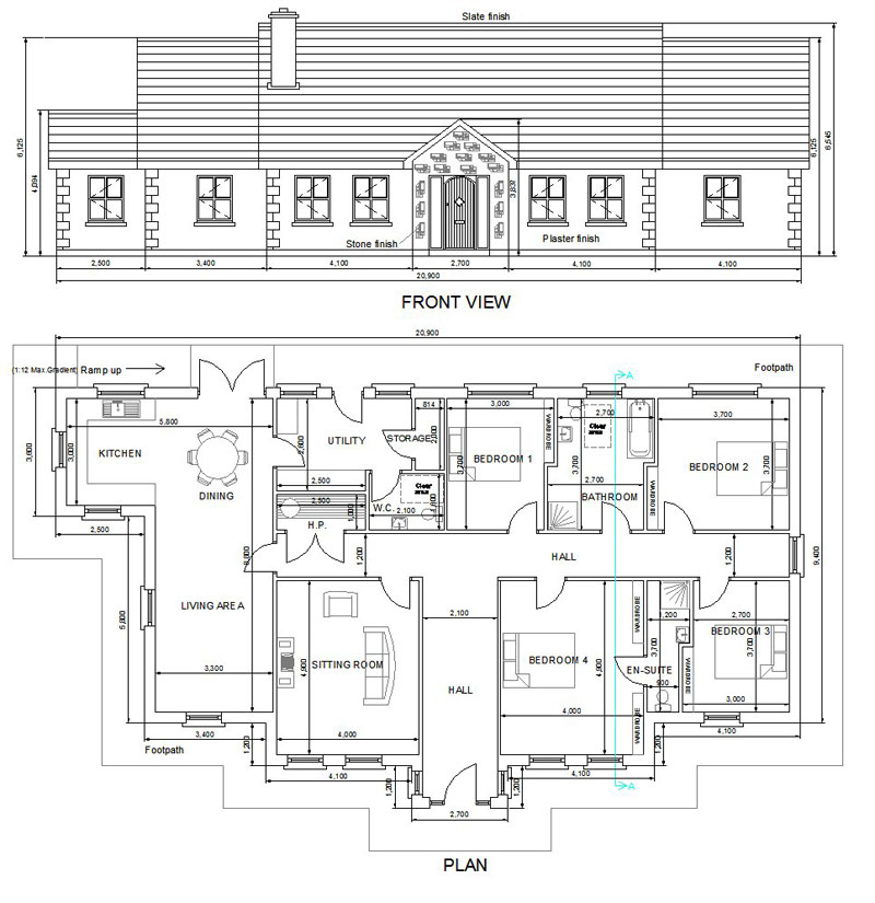 Buy House Plans Bungalows Storey And A Half Two