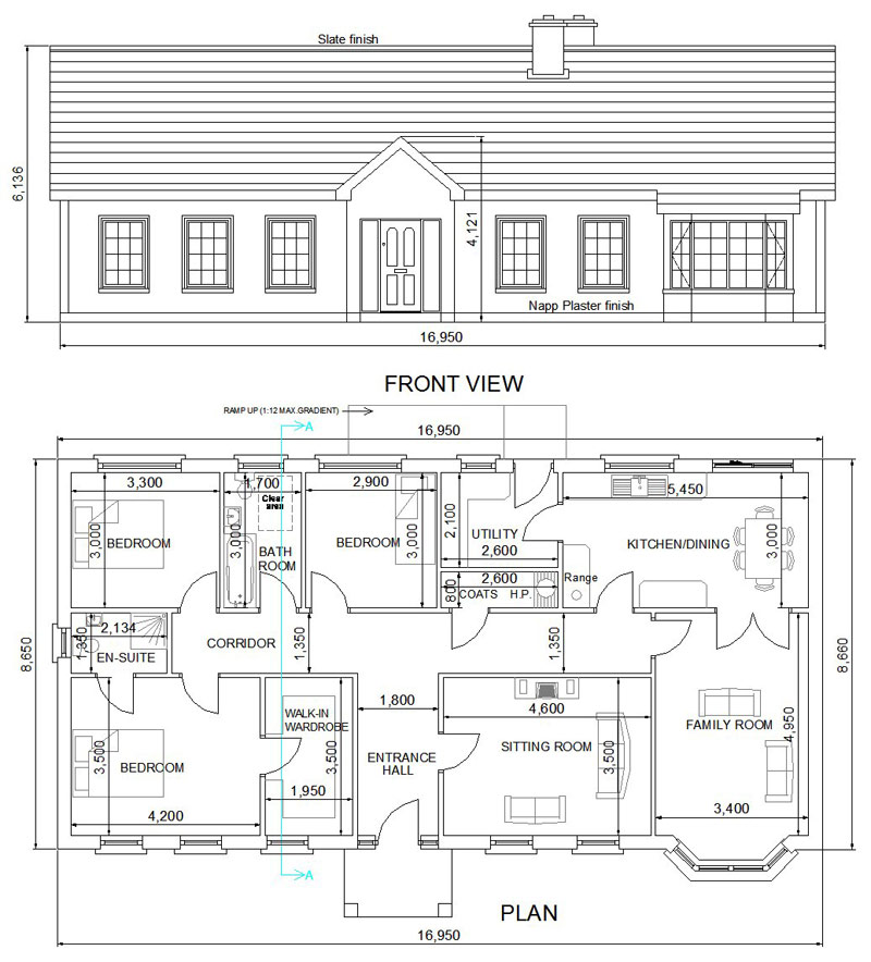 Home plans design auto cad house plans Download house plan drawing software