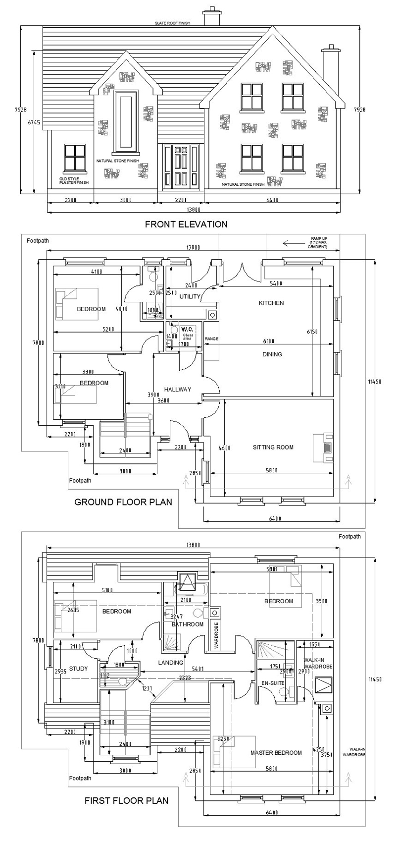 buy house plans bungalows storey and a half two storey 201b once your order is received your plans will be posted to your address in 2 weeks all prices include vat delivery