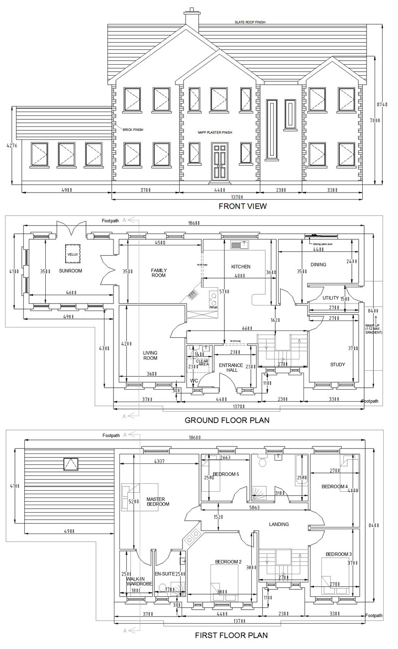 Buy house plans bungalows storey and a half two storey for House plans with conservatory