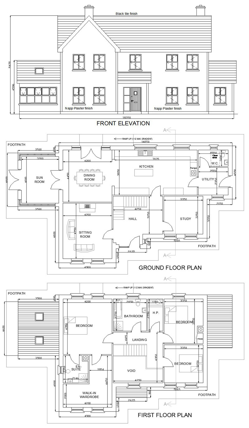 2 Storey Residential House Plan House Design Plans
