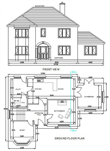 Auto cad house plans unique house plans House map drawing images